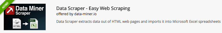 Data Miner Web Scraping Chrome Extension
