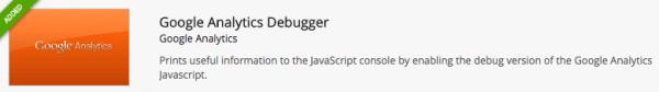 Google Analytics Debugger Chrome extension