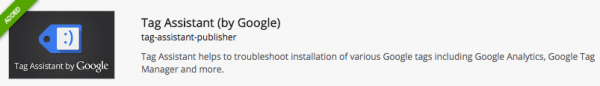 Google Tag Assistant Chrome extension