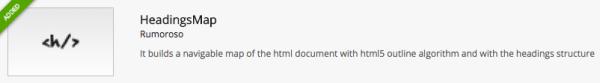 HeadingsMap Chrome Extension