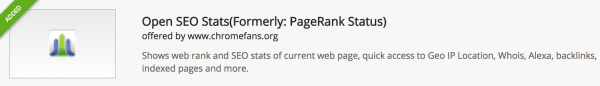 Open SEO Stats Chrome extension