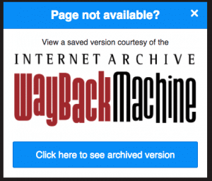 Quickly find the old version of a page URL