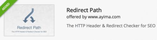 Redirect Path Chrome Extension http header redirect checker