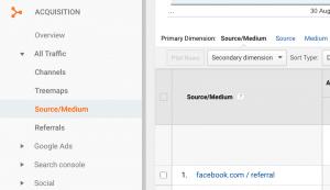 Facebook Referrals in Google Analytics