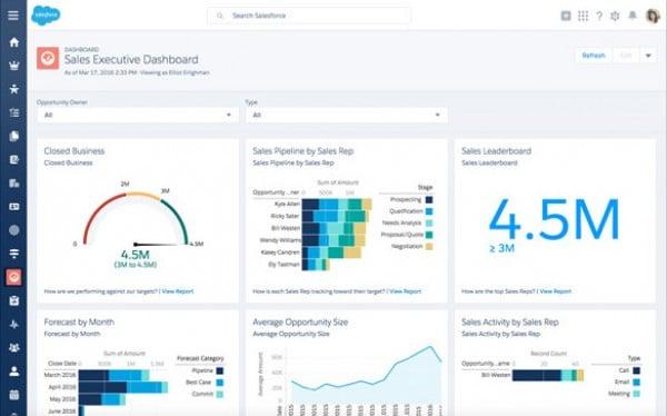 salesforce-sales executive dashboard
