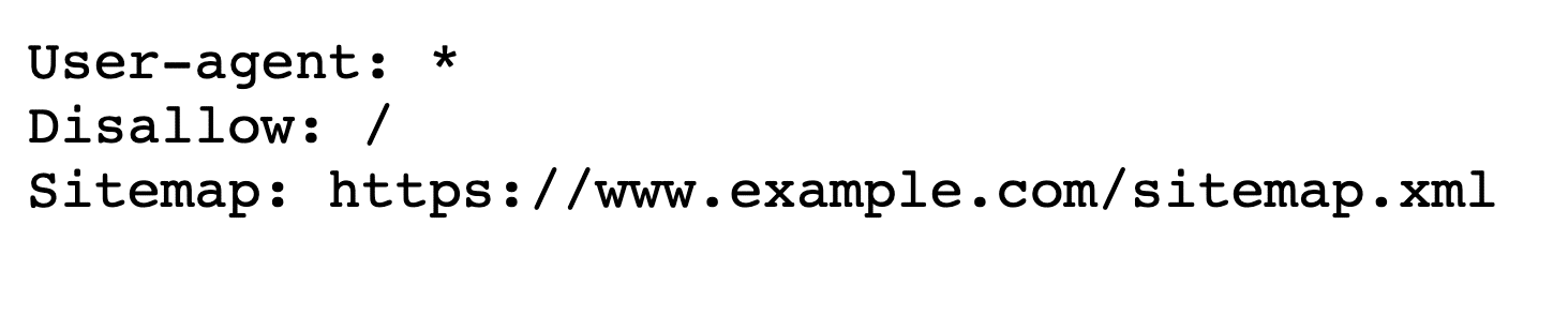 Example of a robots.txt file